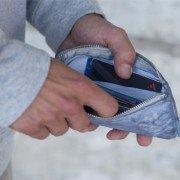 16dbacd4d8 Portafoglio Money zip medium Jeans | Prodotti Essent'ial in vendita ...