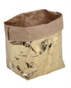 sacchetto living esterno oro interno avana