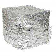 pouf argento luxury